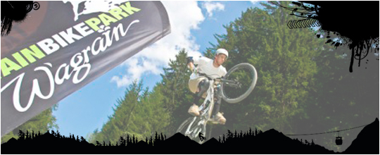 Wagrain Mountain Bike Park is located in the center of the Salzburg mountains.